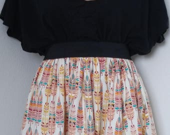 Flannel Feather skirt