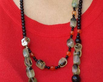 Bright and eye-catching handmade necklace