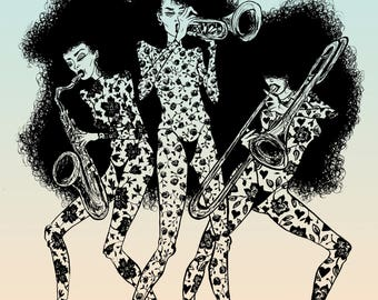 The Horn Section (print)