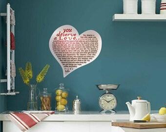 Valentine's Heart, Frida Kahlo, Poetry, Poetry in Italian, Heart Wall Sticker, Heart Magnet, Heart Frida Kalho, Gift, Fridge Magnet