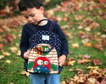 Handmade Kids daycare/ kindy backpack - BLUE