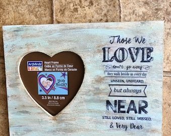 Heart Wood Picture Frame for Deceased Loved Ones
