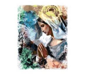 Virgin Mary Cross Stitch Chart