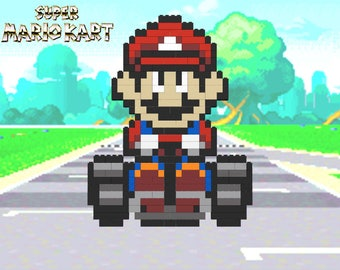 Super Mario Kart - Mario - Lego® Pixel Model