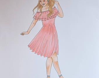Espadrille Fashion Illustration