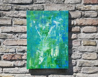 Green Box - acryl art, modern & abstract, unique