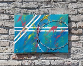 Aquarius - acryl art, modern & abstract, unique