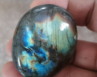 Labradorite Pebble 70,10 Gr - Rainbow sky and blue