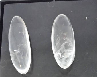 Set of rock crystal 101,60 Gr, 4 elongated - pebbles CRlot4