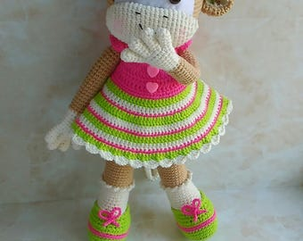 Crochet Monkey Pattern Crochet Toys Pattern Crochet doll pattern PDF in English, PDF in Deutsch
