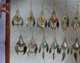 "Earrings ""bronze Age"" different colors and themes"