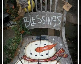 Kay's Primitive Designs Winter Blessings Painting Pattern Packet