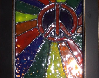 PEACE Faux Stained Glass