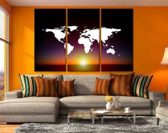 Oversized world map etsy world canvas map world maps world map oversized framed of map of the world map poster gumiabroncs Image collections
