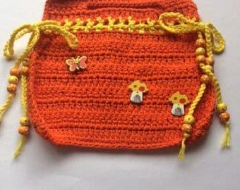 Bright Colours Crochet Handbag
