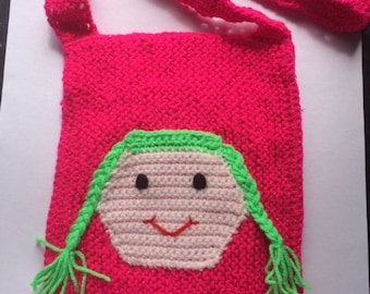 Pink Doll Knitted Bag