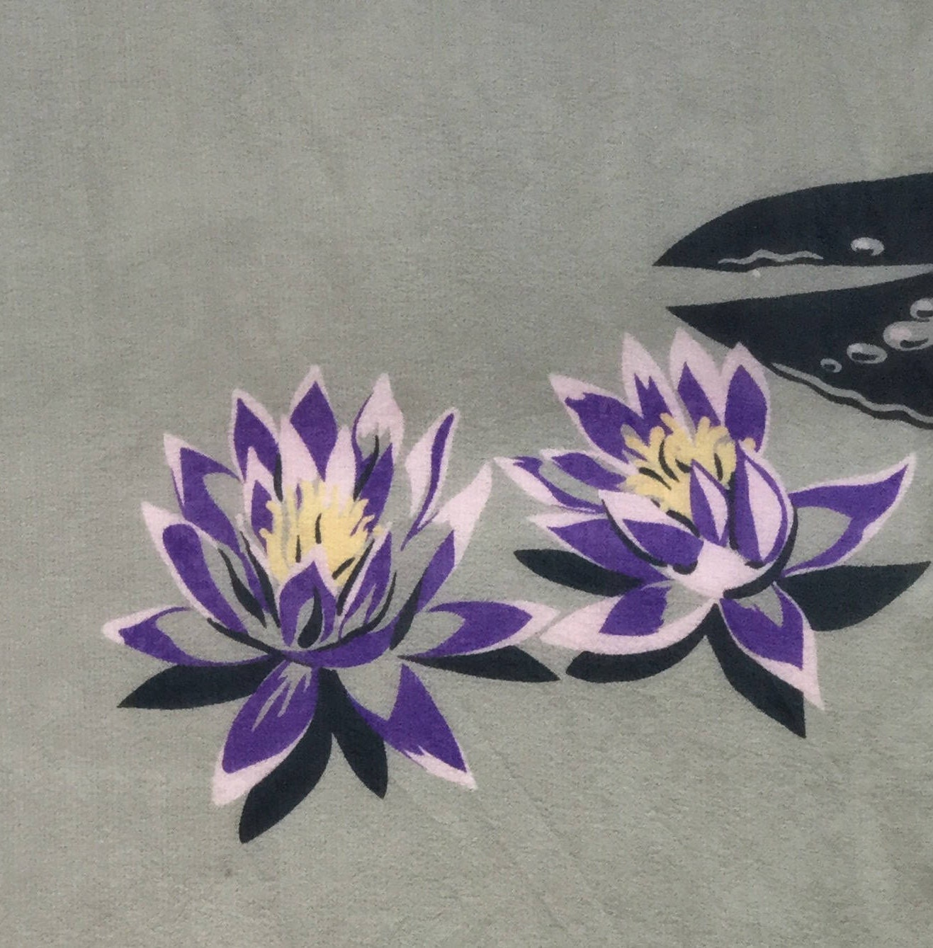 Vintage silk scarfpurplelotus flowersagehand rolledhand vintage silk scarfpurplelotus flowersagehand rolledhand stitched izmirmasajfo