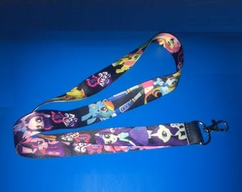 "My Little Pony {L12} 1"" Thick Badge Lanyard with Hanger Clip"
