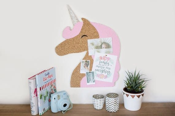 items similar to unicorn pinboard cork board cork pinboard unicorn memo board pinboard. Black Bedroom Furniture Sets. Home Design Ideas