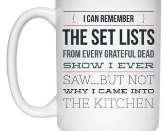 Forgetful Deadhead - Funny Mug For Grateful Dead Fans - 15oz