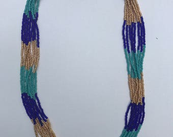 Tricolor Beaded Necklace