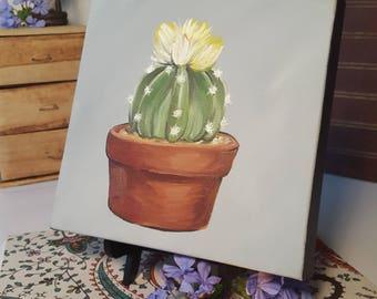 8x8 Original Succulent Oil Painting