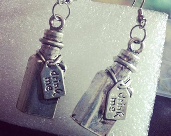 "Alice in Wonderland ""Drink Me"" Earrings"