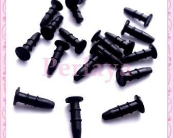Set of 20 black dust plugs REF1856