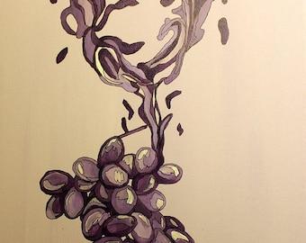 Liquid Wine Glass Abstract