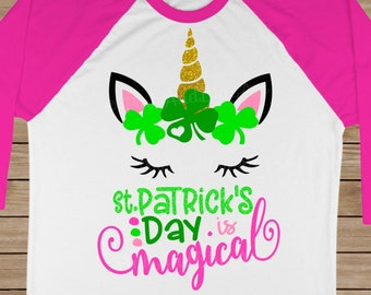 St Patricks Day SVG - St patricks svg - St Pattys svg - Unicorn svg - Unicorn face svg - Magical svg- Spring- Cut file - SVG,png,pdf,eps,dxf