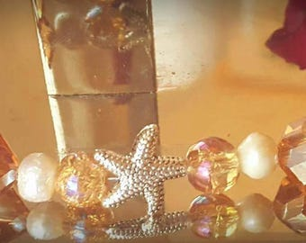 Starfish Crystal Bracelet w/matching Earrings