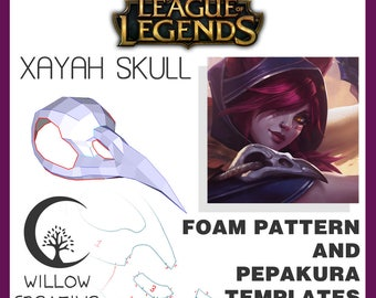 Xayah skull pattern kit - Xayah, League of Legends