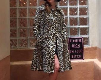 Classic Vintage Cheetah Print Safari by Sportown LaFrance Fur Jacket
