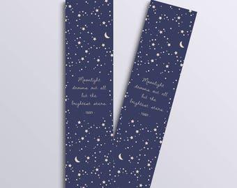 Moon & Stars bookmark (Tolkien inspired)