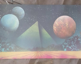 "Bright Horizons    15"" x 22"" Spray Paint Art"