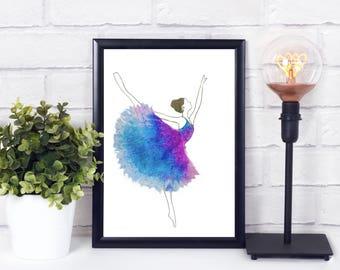 ballet dance art -ballet dancer print - ballet printable - ballet art print - ballet printable - ballet gifts for teacher - ballet gifts