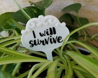 I Will Survive Plant Marker