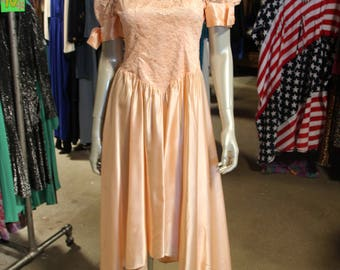 80's Pretty in Pink Prom Dress