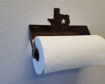 Texas Paper Towel Holder Wall