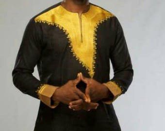 African Men's Outfit /Ankara Men's Outfit/ Shirts and Trousers, Mens Executive Wear Express Shipping