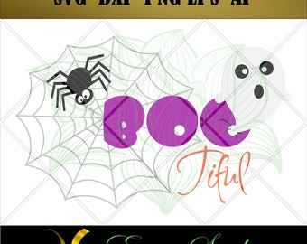 Boo Tiful Ghost svg, Halloween svg, Clipart svg,Halloween Cricut,Design Studio,svg Files for Cricut, Cutting Files,svg files,Layers svg