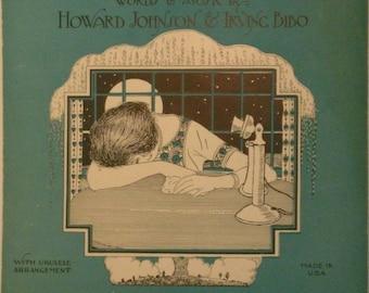 Am I Wasting My Time on You, sheet music by Howard Johnson, Irving Bibo, 1926, Vintage