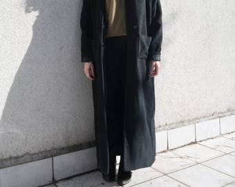 Dark Blue Coat- Long Blue Winter Coat- Wool Coat- Elegant Jacket
