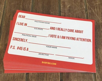 Mad Libs Style Postcards