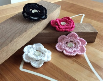 Wool Flower Clip