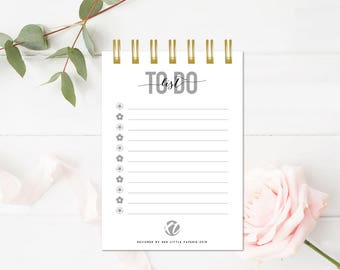 To Do Notebook, spiral notebook, Writing journal, personalized, cute journal, diary, sketchbook, a6,  To Do Notepad