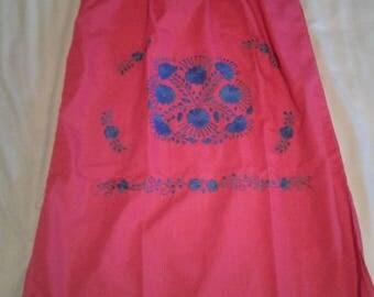 Medium - Hot Pink (Regular Length / Below Knee) Mexican Dress #R104