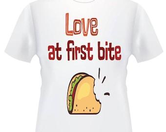 Love at first bite taco tshirt