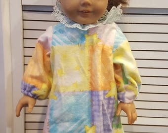 "American Girl Doll Flannell Nightgown fits all 15 to 18"" dolls"