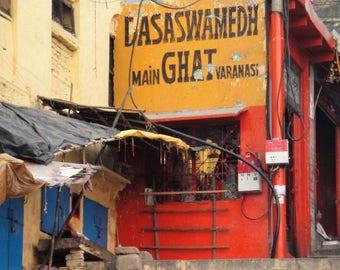 Dashashwamedh Ghat - Varanasi - India - Travel Photography - Instant Download